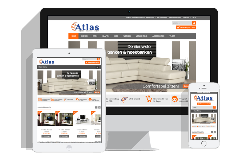 Magento webshop Atlas Meubel